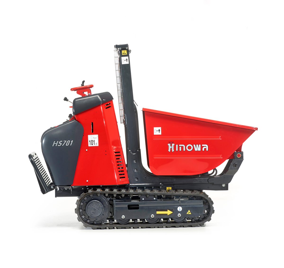 Minidumper HS701 high-tip dumper bed